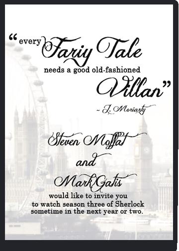 Sherlock BBC Invitation