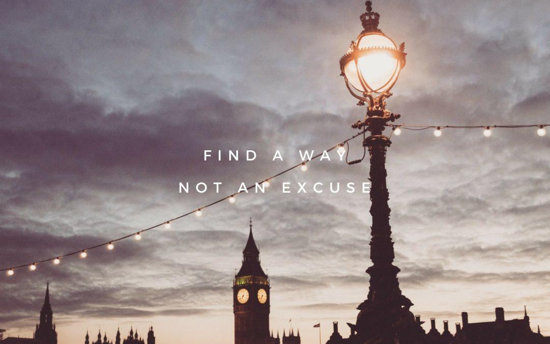 Find a way…